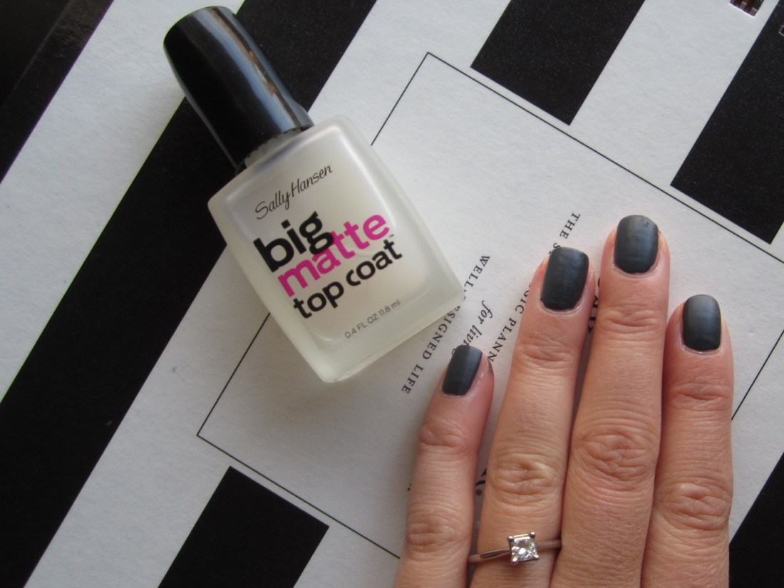 big matte top coat manicure
