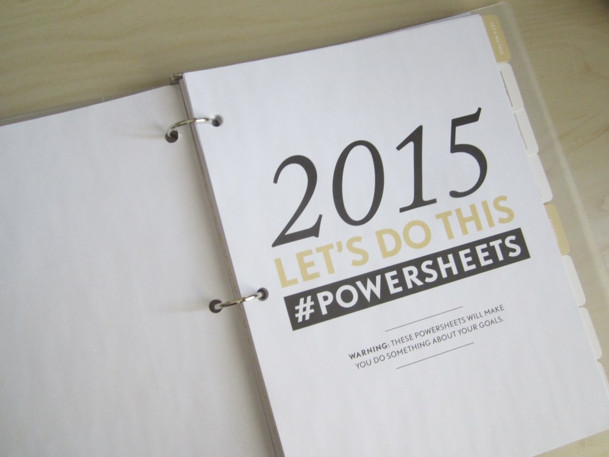 Review: The 2015 #powersheets by Lara Casey