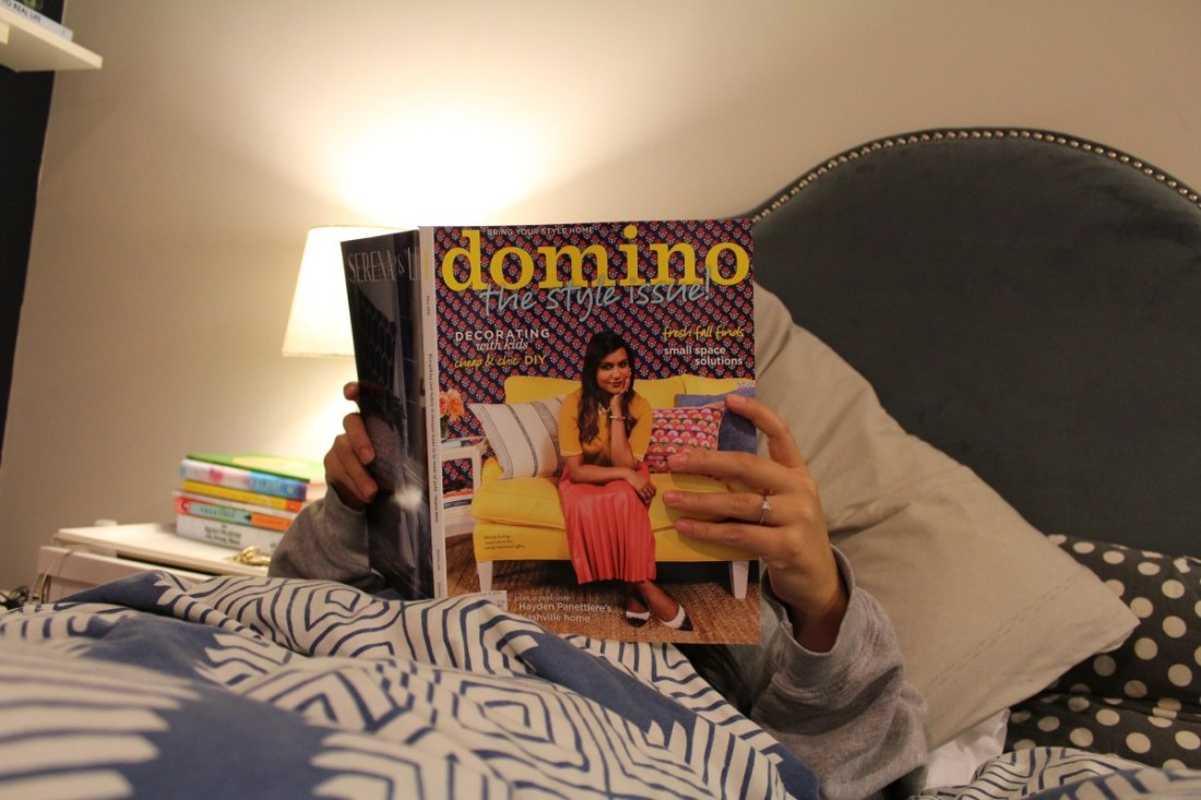 domino magazine mindy kaling blogger reading