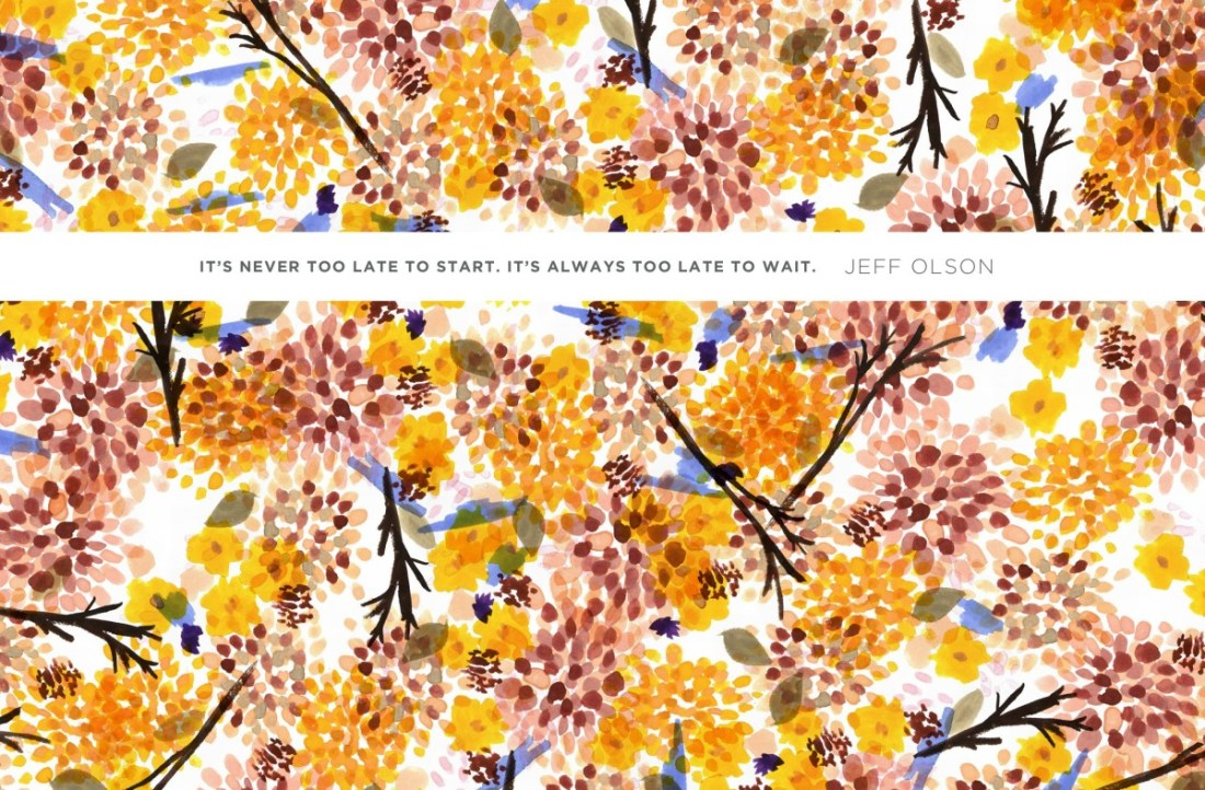 This is my absolute favorite one. The colors, the quote, the inspiration. Gorgeous. Found ong Jess Lively's Blog / designed by JoylaForMe.com
