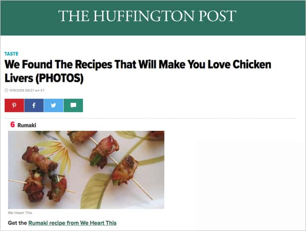 Huffington Post Rumaki Press