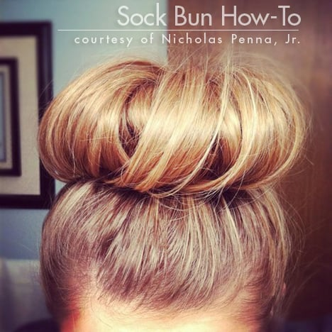sock bun Best of wht 2012: How To Style a Perfect Sock Bun