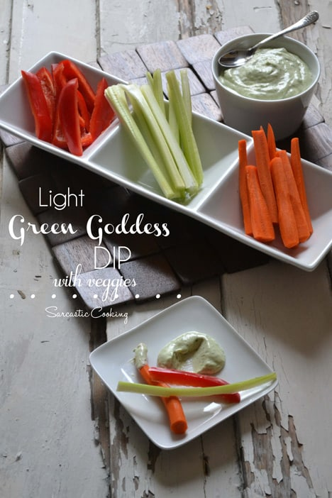 GreenGoddess Light Green Goddess Dip Recipe