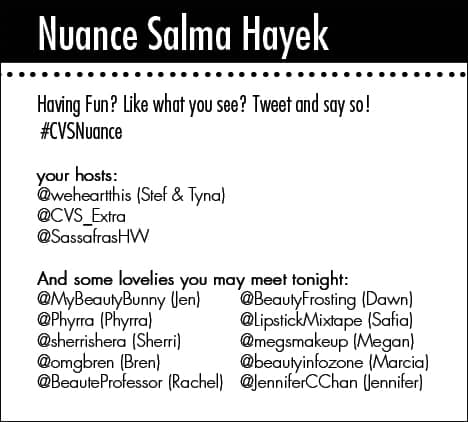 NuanceCard Nuance Salma Hayek for CVS   Beauty Blogger Party