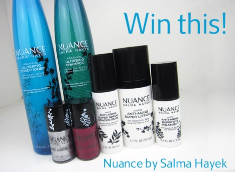 NuanceGiveaway WIN $88 in Nuance by Salma Hayek products and a $50 CVS giftcard!