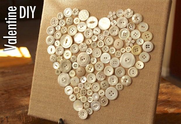 Valentine DIY 2553 DIY Valentines Day: Button Heart