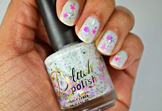 Delush Love Me Lights Out 7 Delush Polish XO Collection   swatches and review