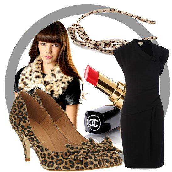 1950s style leopard print outfit