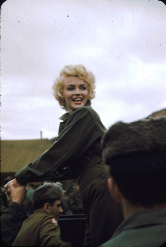 Marilyn Monroe, Korea, 1954