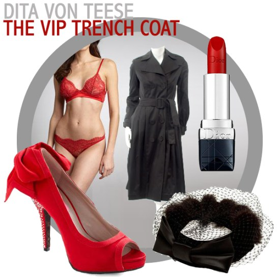 The VIP trench coat by Dita Von Teese