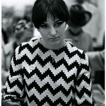 1960s eye makeup and geometric prints