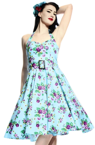 1950s floral pin up dress