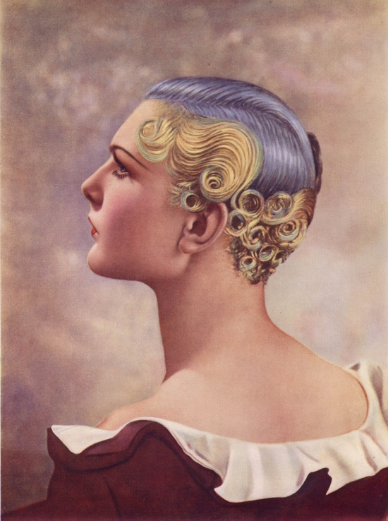 1930s purple hair