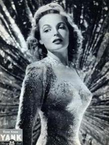 Elyse Knox WWII pin up for YANK Magazine
