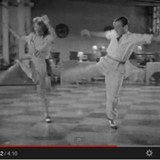 Rita Hayworth tap dancing with Fred Astaire (and more than keeping up!)