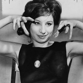 Barbara Streisand showing her claws, 1962