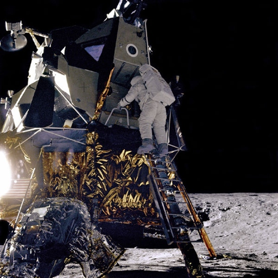 Photo on the moon by astronaut
