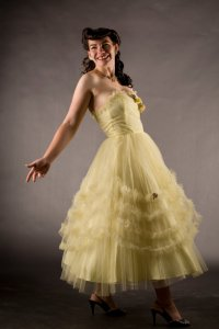 Yellow 1950s tulle dress from Union Made Bride
