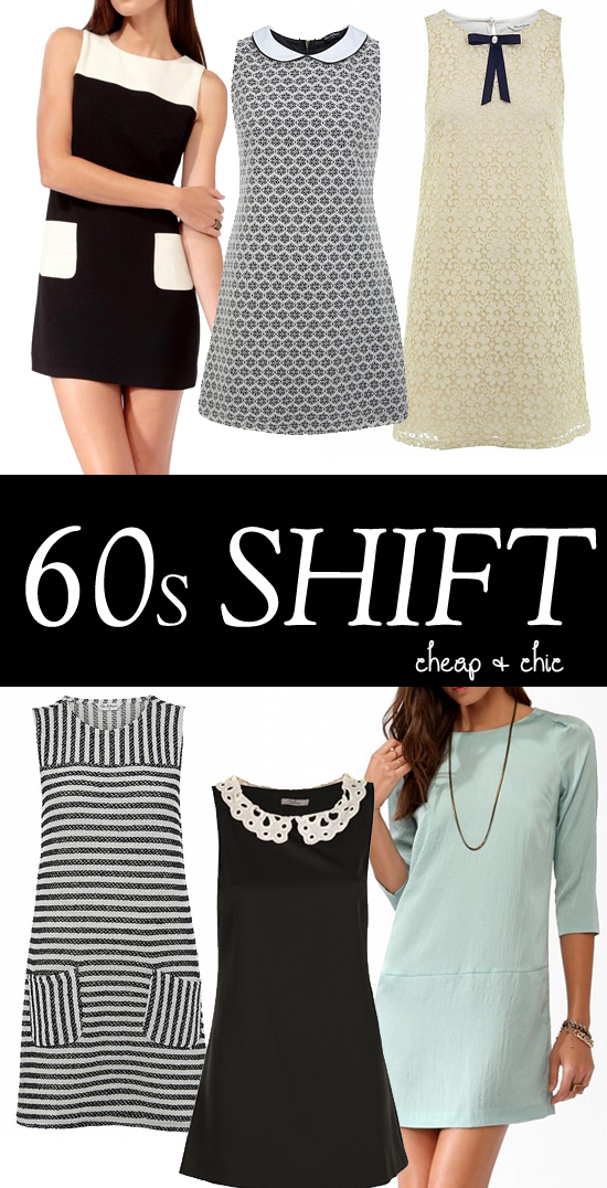 1960s shift dresses - high street