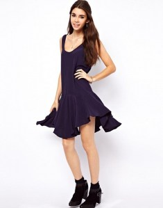 ASOS Swing Dress with Dropped Waist