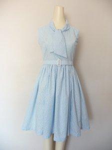 Blue Butterfly Swing Dress by Franny Lou Frocks