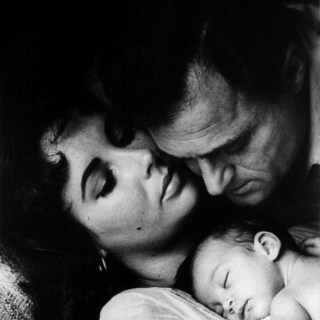 Elizabeth Taylor, Mike Todd and their baby