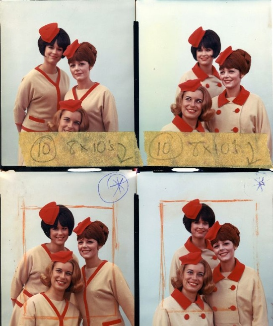 1960s stewardesses (or are they air hostesses?)