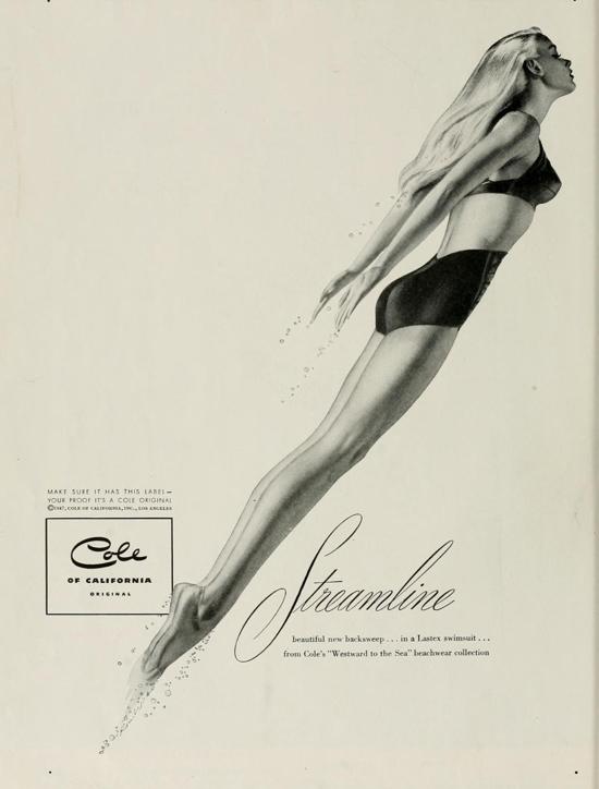 Vintage swimwear: Stunning 1940s Cole of California advert