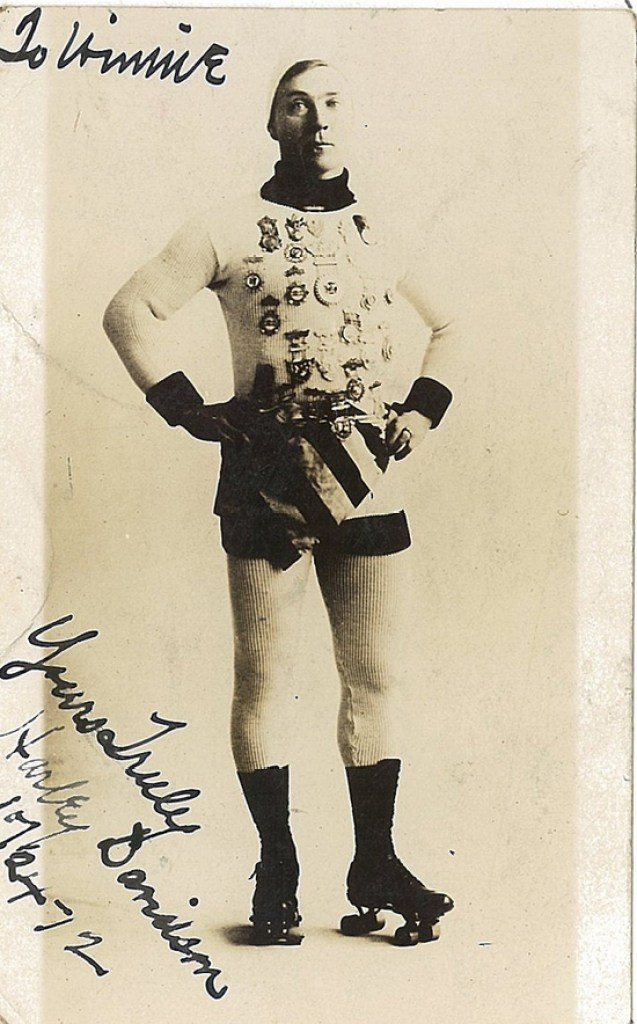 Harley Davidson, the famous speed roller skater from 1912