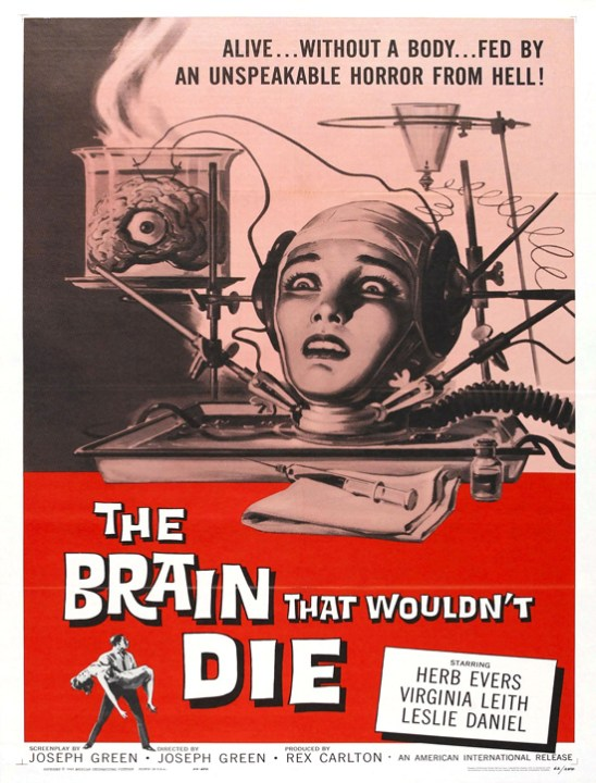Vintage movie poster: The Brain that wouldn't die