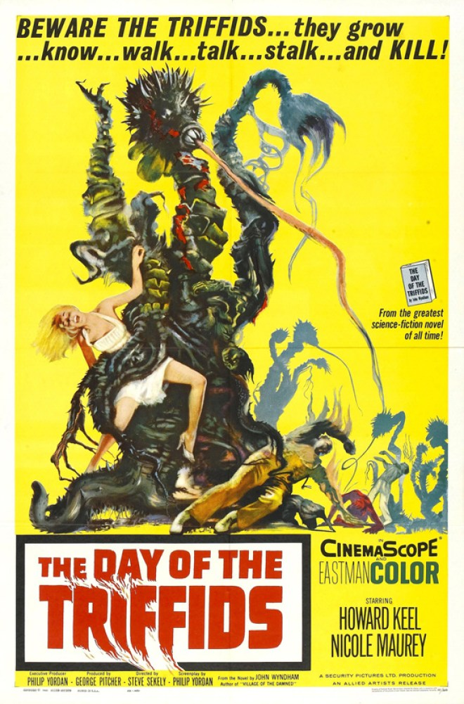Vintage movie poster: Day of the Triffids