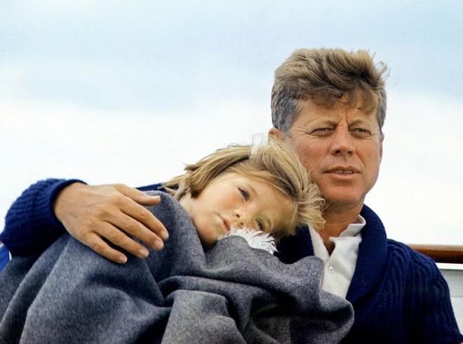 John F Kennedy and Caroline Kennedy