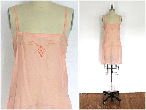 1920s Silk Chemise