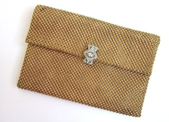 A vintage gold handbag