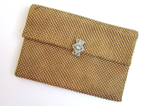 Vintage 1940s Gold Metal Mesh Purse