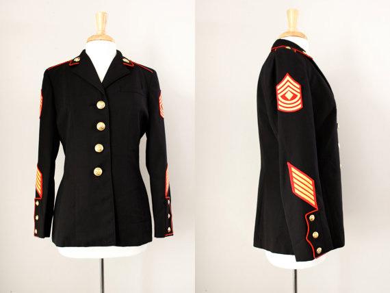 Vintage Women's US Marines Military Jacket