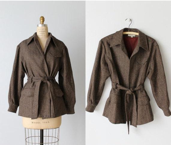 1980s Herringbone Tweed Jacket
