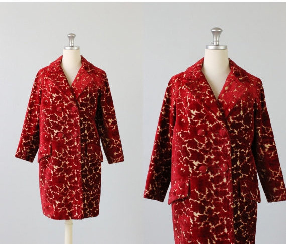 1960s Chenille Coat