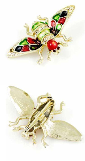 Vintage insect brooch
