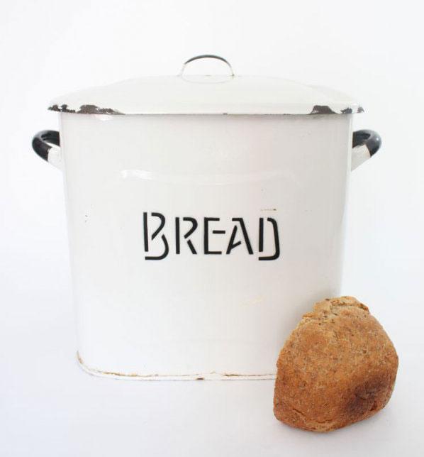 1910s-1930s Enamelware Bread Bin