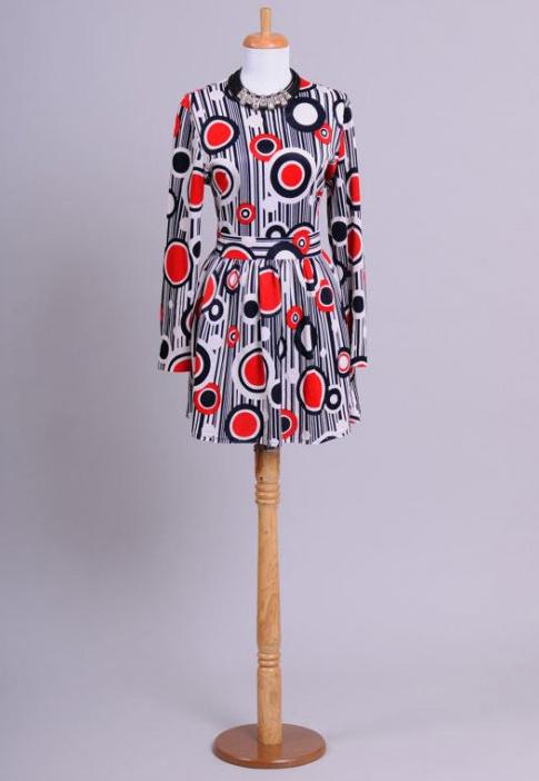 1970 Art Deco Vintage Mini Dress