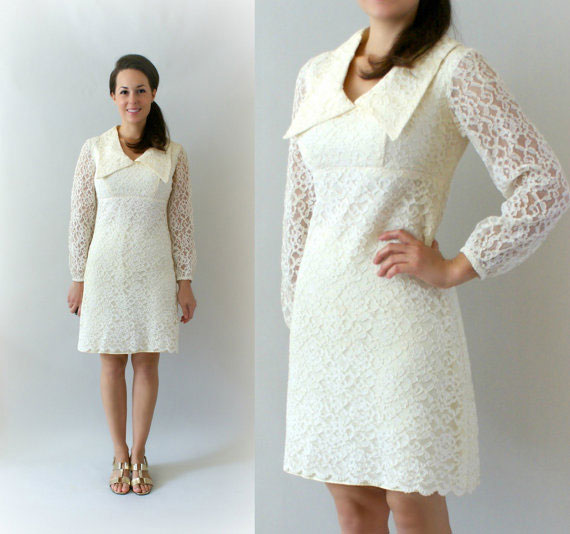 1960s Lace Wedding Dress