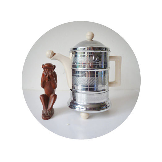 1930s ART DECO coffee pot by ellgreave pottery co ltd england burslem