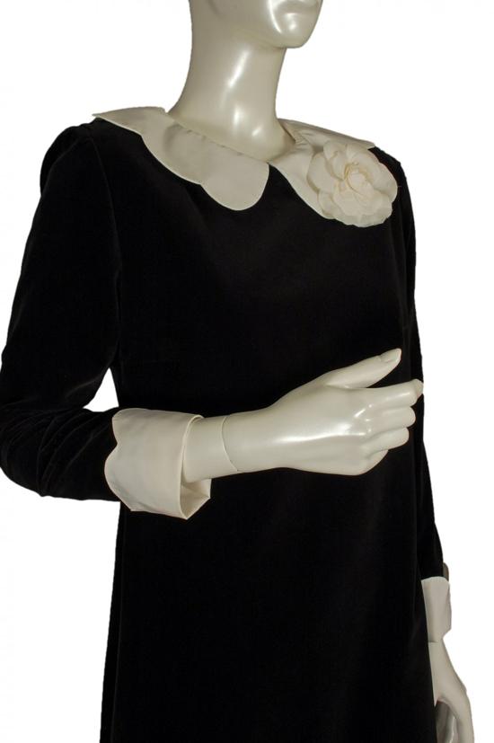 1960s Deneuve dress + Chanel camellia