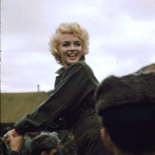 Photos of Marilyn Monroe on her USO tour in Korea, 1954