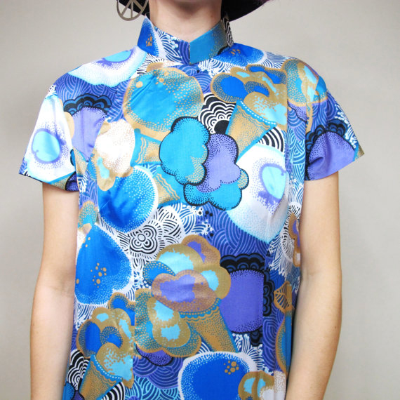Psychedelic Cheongsam Dress