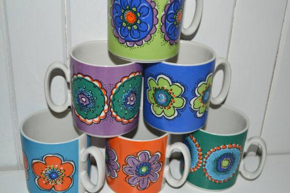 Excellent mug Villeroy and Boch Mid.Century Lyxemburg pottery, retro 70s