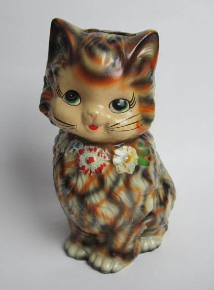 1960s KITSCH RETRO CAT MONEY BOX