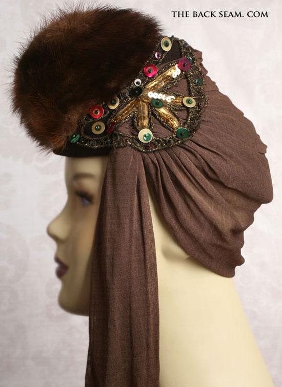 1930s Mink Art Deco Era Womens Tilt Top Hat