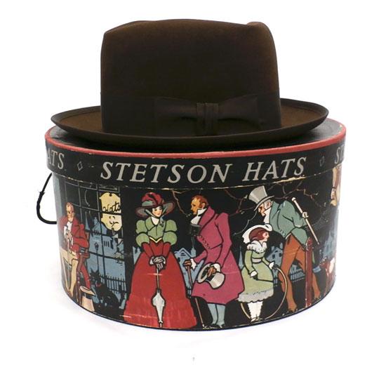 Vintage Mens Fedora Hat Stetson Brown 1950s